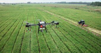 Drohne in Landwirtschaftseinsatz