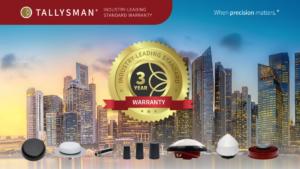 Tallysman jetzt mit drei-Jahres-Garantie auf GNSS-Antennen