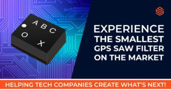Ultraminiatur-SAW-Filter für GPS/GNSS-Applikationen