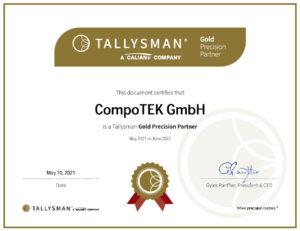 Antennenhersteller Tallysman zertifiziert CompoTEK